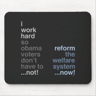 Reform The Welfare System Mouse Pad