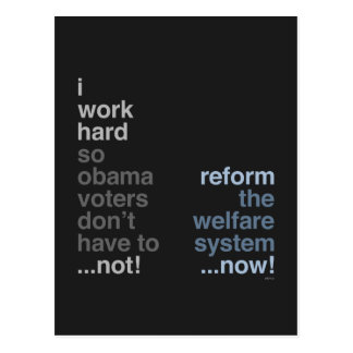 Reform The Welfare System Postcard