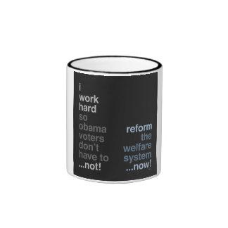 Reform The Welfare System Ringer Coffee Mug