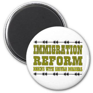Reforma de inmigración imán redondo 5 cm