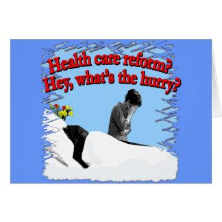 ¿Reforma de la atención sanitaria cuál es la prisa Tarjeta De Felicitación