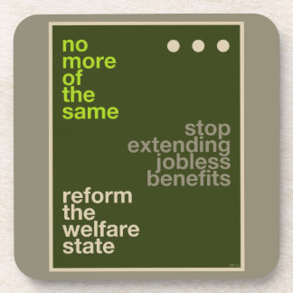 Reforma del bienestar posavasos de bebidas