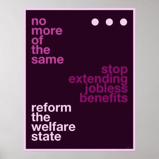 Reforma del bienestar posters