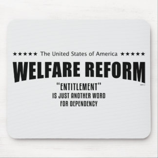 Reforma del bienestar tapetes de ratones