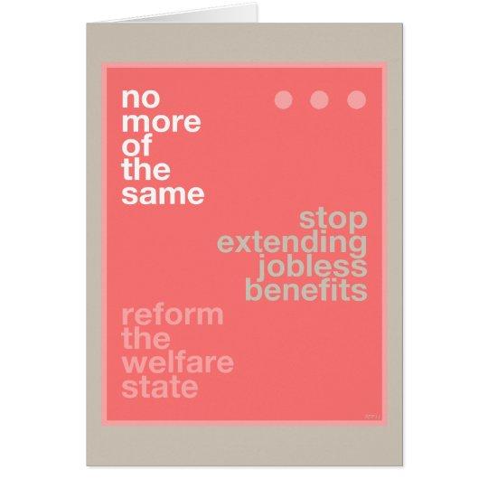 Reforma del bienestar tarjeta de felicitación