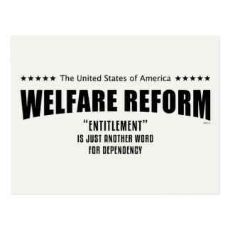 Reforma del bienestar postales