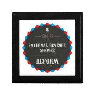 Reforme el código impositivo caja de regalo