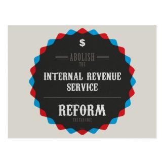 Reforme el código impositivo tarjetas postales