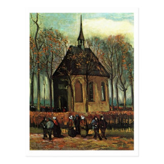 Reformed Church in Nuenen, Van Gogh Fine Art Postcard
