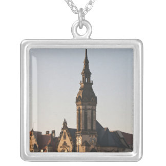 Reformed Church Leipzig, Germany Square Pendant Necklace
