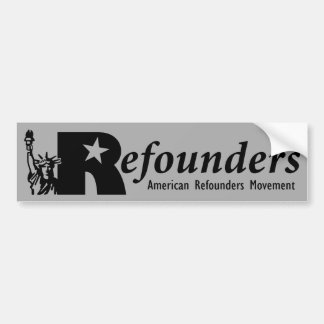 Refounders Car Bumper Sticker