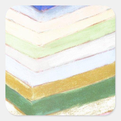 Refracción en colores pastel (expresionismo calcomanía cuadradas