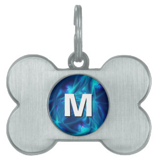 Refracted Space Abstract Fractal Art Pet Name Tag