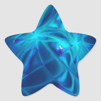 Refracted Space Abstract Fractal Art Star Sticker