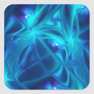 Refracted Space Abstract Fractal Art Square Sticker