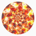 Refractive Heat - Fractal Classic Round Sticker