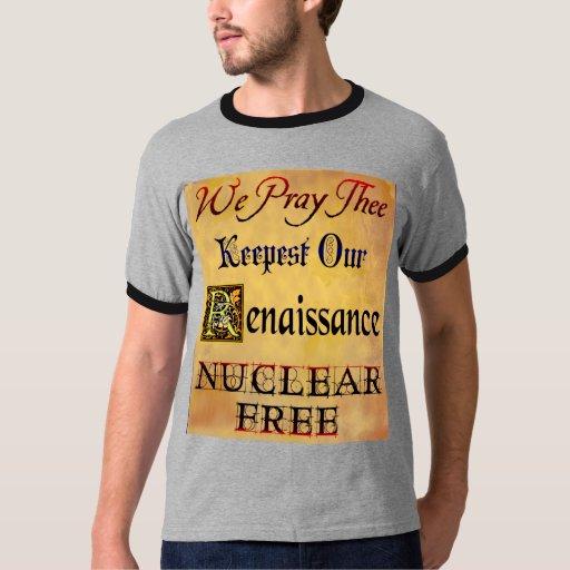 Refrán antinuclear del renacimiento libre nuclear playeras
