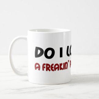 Refrán divertido de la persona de la gente taza de café