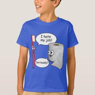 Refrán divertido - odio mi cepillo de dientes del playera