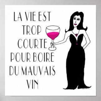 Refrán francés simplemente travieso del Vixen del  Póster