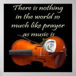 Refrán inspirado del violín cristiano del poster