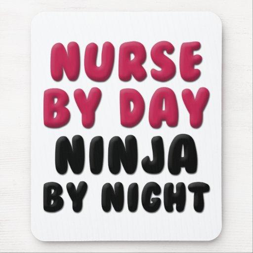 Refrán lindo de Ninja de la enfermera Alfombrilla De Raton