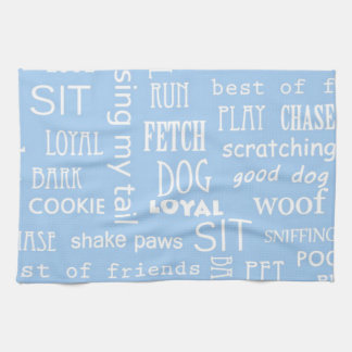Refranes azules del amante del perro toalla