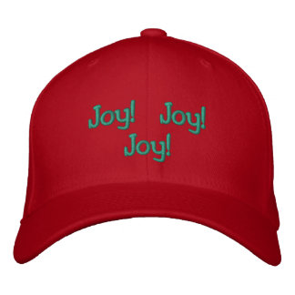 Refranes bordados del navidad gorra de beisbol bordada
