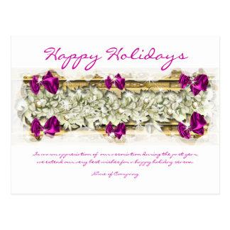 Refranes del navidad y gracias corporativas de postal