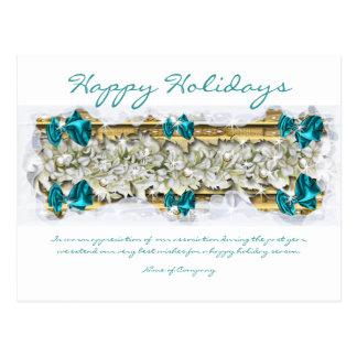 Refranes del navidad y gracias corporativas de tarjeta postal
