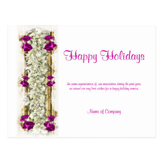 Refranes del navidad y gracias corporativas de tarjetas postales