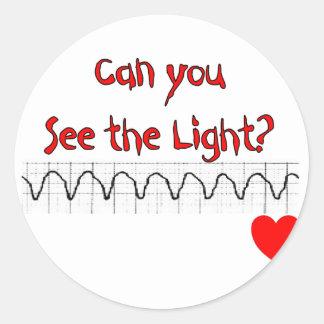 Refranes hilarantes de la enfermera cardiaca del etiqueta redonda