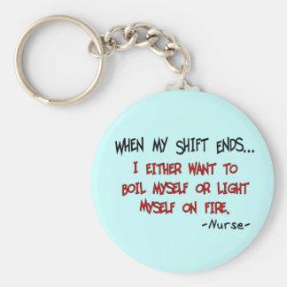 Refranes hilarantes de la enfermera llavero redondo tipo pin
