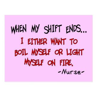 Refranes hilarantes de la enfermera postales