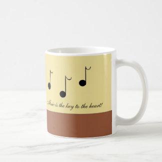 Refranes musicales taza básica blanca