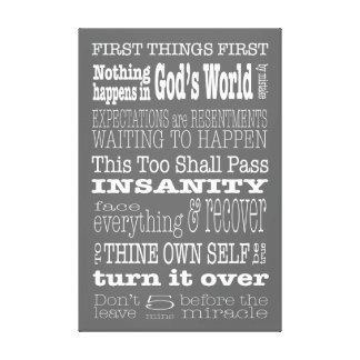 Refranes y lemas del AA 1 lona Impresión En Tela