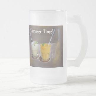Refrescos fot a Summer Day 16 Oz Frosted Glass Beer Mug