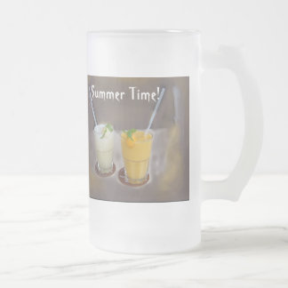 Refrescos fot a Summer Day 16 Oz Frosted Glass Beer Mug