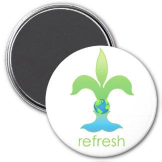 Refresh 3 Inch Round Magnet