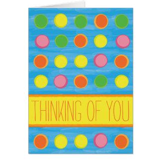 Refresh - Fruity Colorful Polka Dots on Aqua Blue Card