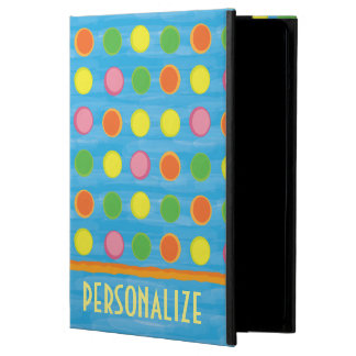 Refresh - Fruity Colorful Polka Dots on Aqua Blue Cover For iPad Air