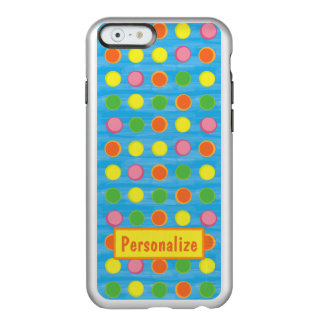 Refresh - Fruity Colorful Polka Dots on Aqua Blue Incipio Feather® Shine iPhone 6 Case