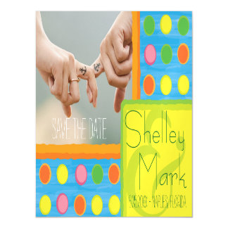Refresh - Fruity Colorful Polka Dots on Aqua Blue Magnetic Card
