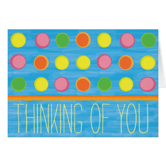 Refresh - Fruity Colorful Polka Dots on Aqua Blue Stationery Note Card