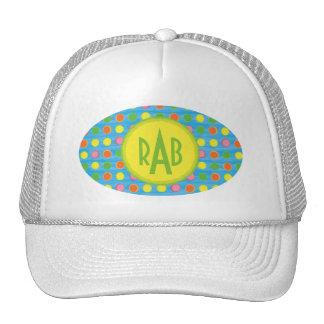 Refresh - Fruity Colorful Polka Dots on Aqua Blue Trucker Hat