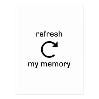 Refresh my Memory (black text) Postcard