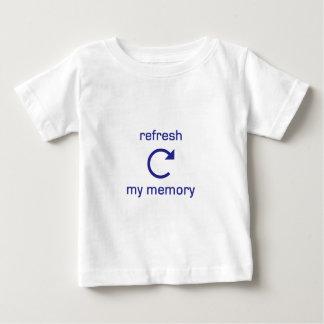 Refresh my Memory (blue text) Baby T-Shirt