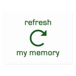 Refresh my Memory (green text) Postcard
