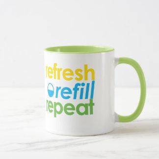 Refresh - Refill - Repeat Coffee Mug