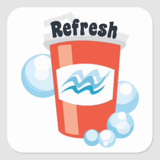 Refresh Square Stickers